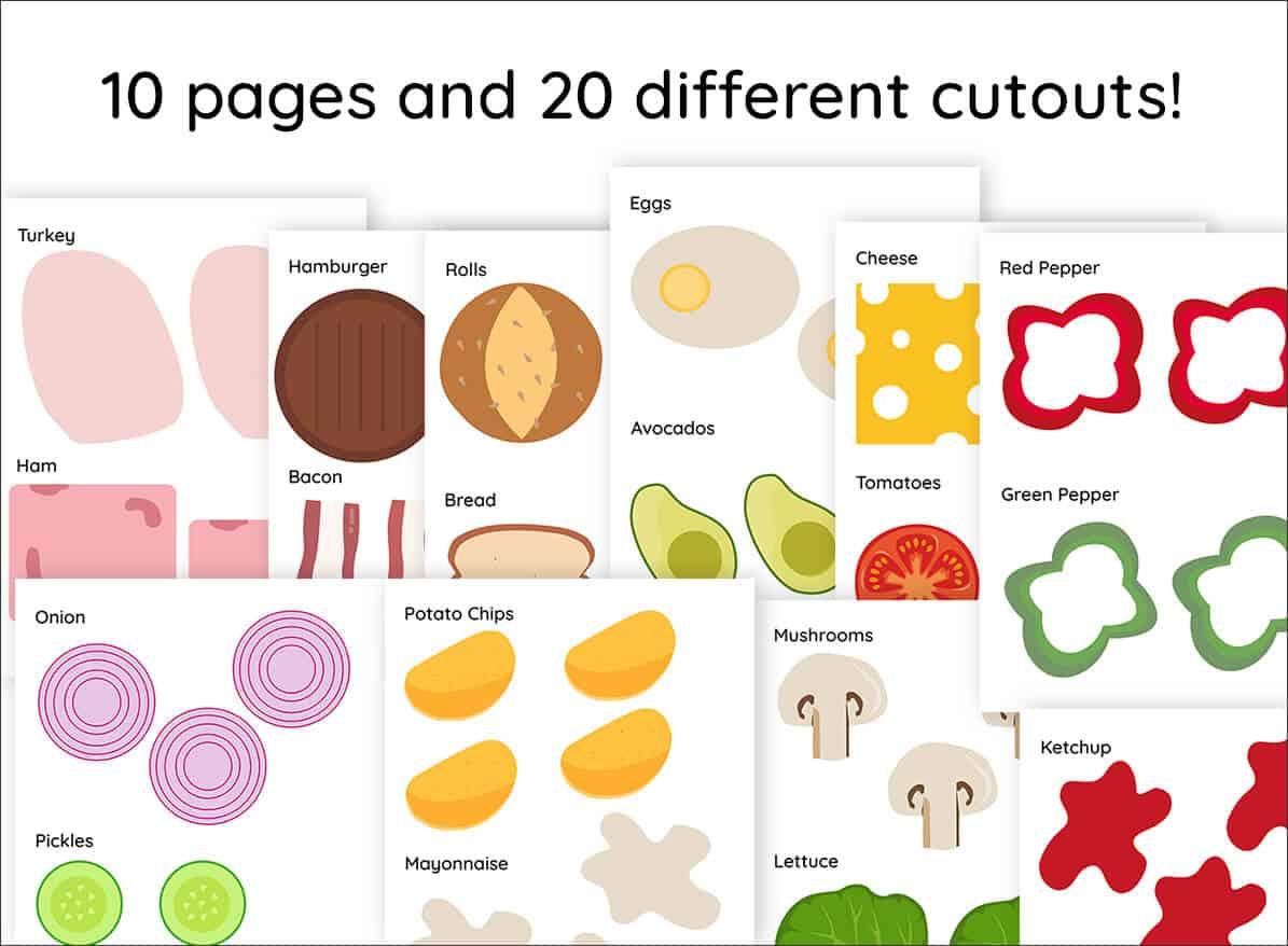 Build A Sandwich Kit Printable Cutouts Mrs Merry