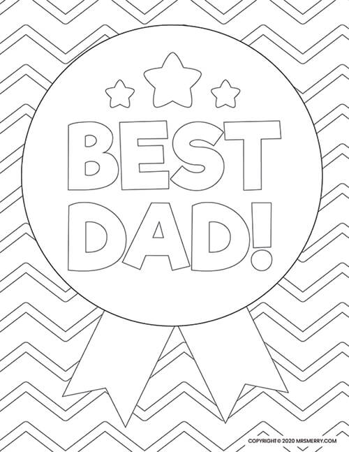6 Dad Coloring Pages Free Kids Printables Mrs Merry