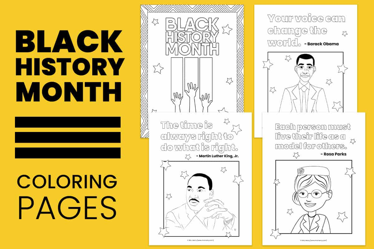 Black History Month Coloring Pages Free Printables Mrs Merry