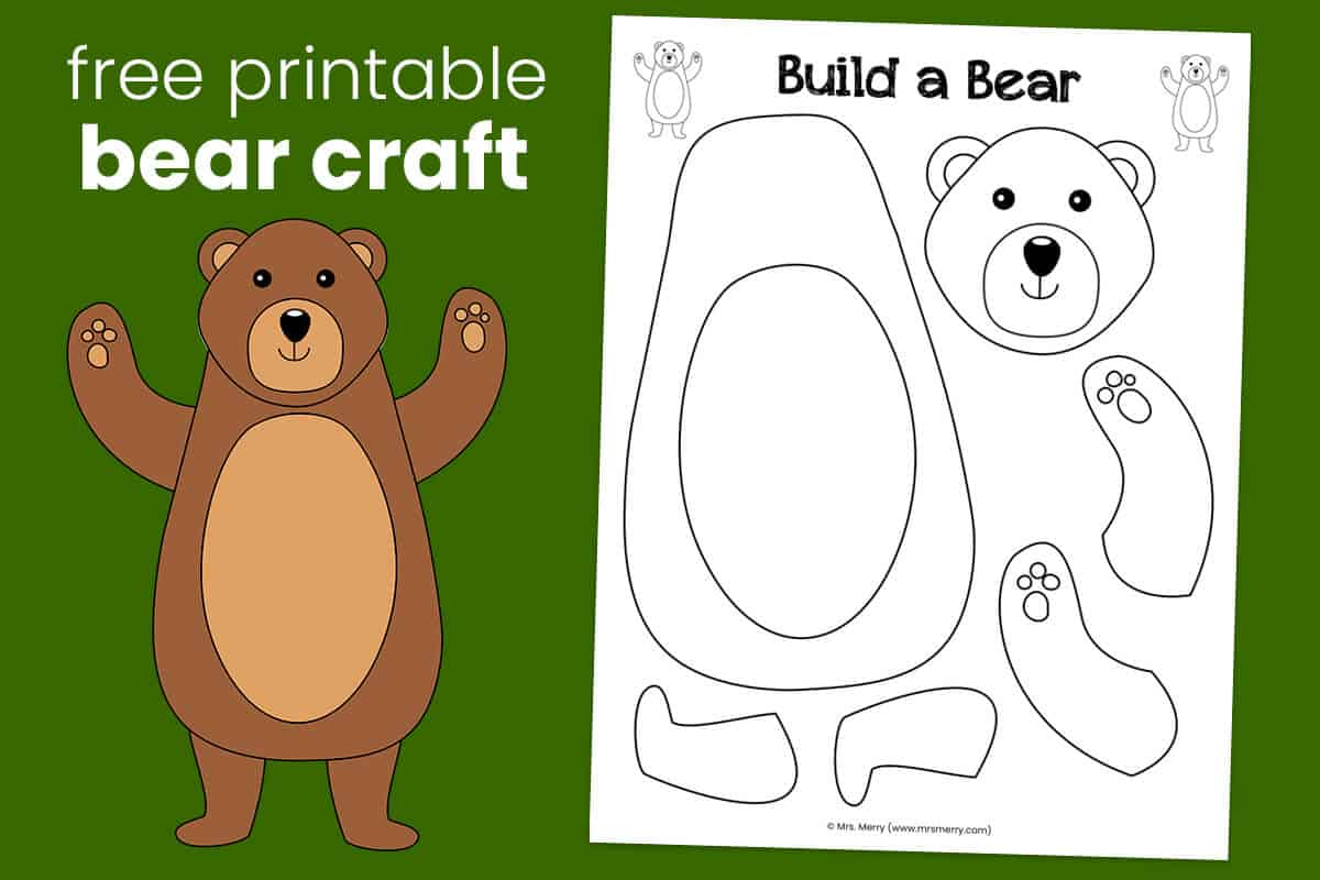Build A Bear Craft For Kids Free Printable Mrs Merry